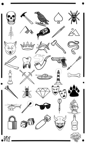 tattoos meaningful unique meaning diamond axe simple skull template which favorite