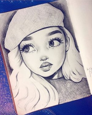 drawing sketch draw drawings lips eyes easy sketches anime archzine face hair female tutorials realistic beanie simple eye faces pencil