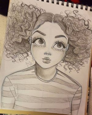 drawing draw curly hair drawings face sketch sketches eyes ponytails tutorials easy archzine woman pencil 1001 ml