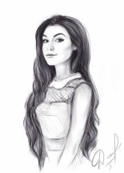 1001 girl drawing
