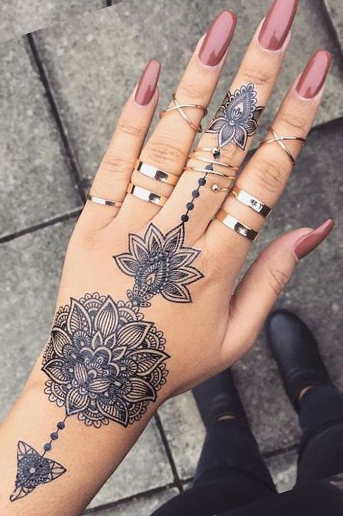 Black Hand Tattoo Meaning : black, tattoo, meaning, Beauty, Symbolism, Mandala, Tattoo, Architecture,, Design, Competitions, Aggregator