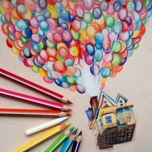 cool pencil draw easy things drawing drawings step tutorials beginners colourful sketch coloured pencils colorful bored balloons inspiration inspired archzine