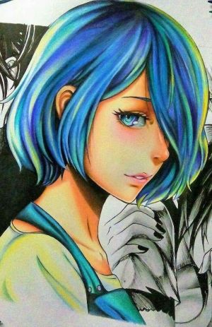 anime draw hair drawing drawings eyes sketch characters pencil colourful