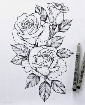 easy draw flower sketch pencil rose drawing flowers background roses dessin fleur drawings simple step sketches three tutorials dessiner archzine