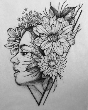 flowers draw drawing pencil sketch easy woman tutorials tattoos drawings face simple female background 1001 step archzine surrounded cool pretty
