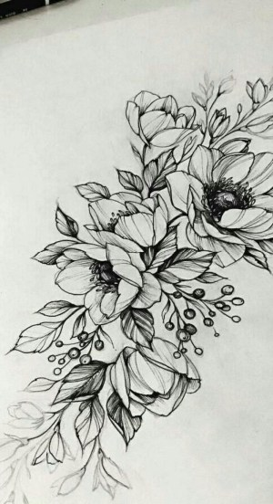 flowers draw pencil designs flower easy cool sketch drawings tattoo drawing background tree sketches tutorials tattoos intertwined gorgeous read