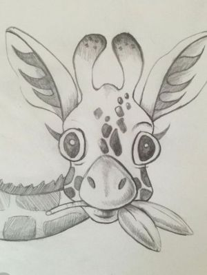 easy drawings giraffe pencil drawing sketch cool simple sketches animal develop creativity leaves things background archzine 1001 concentration archziner improve