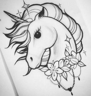 unicorn draw easy drawing drawings sketch pencil flowers sketches fantasy head archzine tutorials 1001 background step drawn realistic
