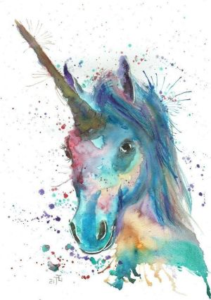 unicorn draw easy painting watercolor head purple drawing tutorials archziner drawings realistic simple paintings pencil painted horn 1001