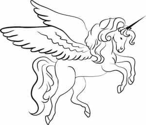 unicorn draw drawing sketch simple easy wings pencil winged tutorials printable archziner 1001 paintings drawings realistic painting coloring drawn adults