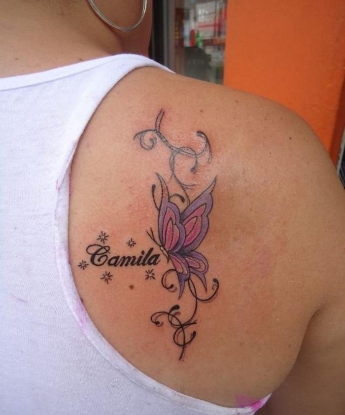 Tatuajes Nombres Hombro Name