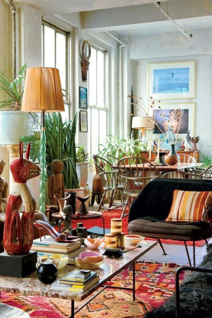 1001  ideas de salones modernos decorados en estilo bohemio