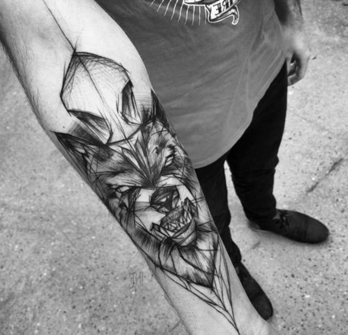 Tatuajes De Lobos Antebrazo Hombre