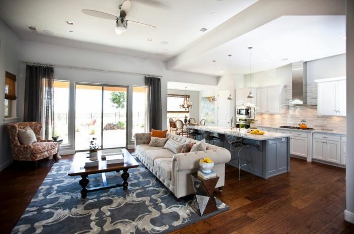 1001  ideas de decorar las cocinas abiertas al saln