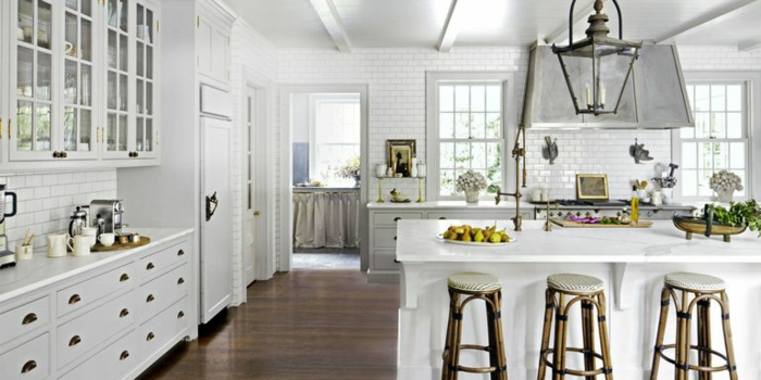 1001  ideas de decoracin de cocinas modernas blancas