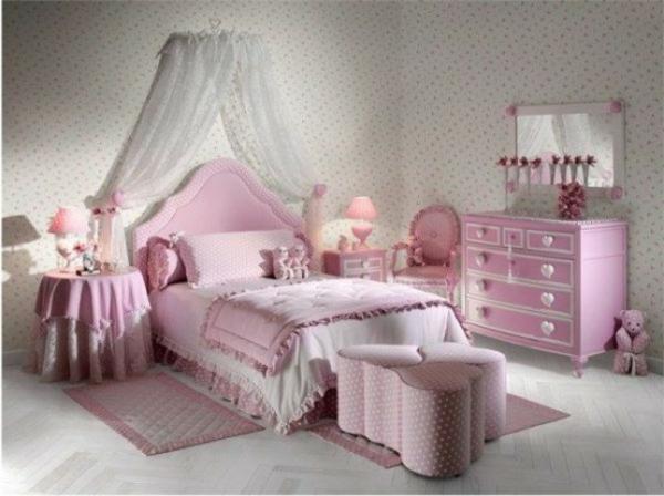Chambre Fille Orange Et Rose