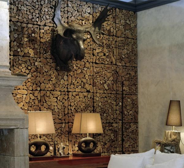 Wohnzimmer Modern Steinwand - Wohnkultur, Frisur und ...