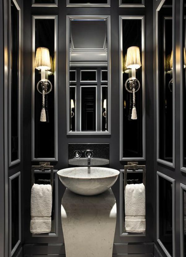 Le salle de bain design en blanc et noir  Archzinefr