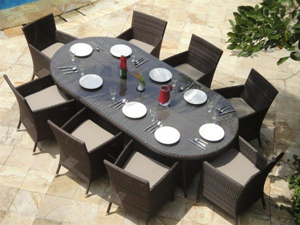 Table Salon De Jardin Ovale   Balcon