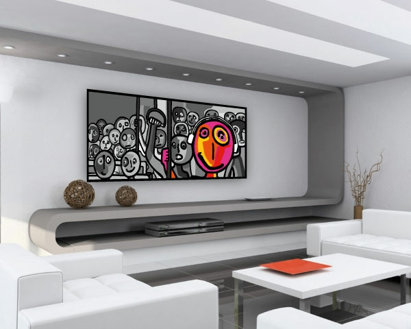 17 Ide Pour Une Grand Tableau Design Mural Du Salon