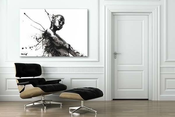 17 ide pour une grand tableau design  mural du salon  Archzinefr