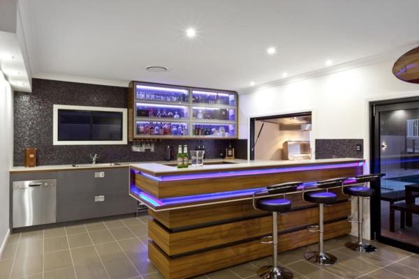 Un bar plan de travail  des ides pour lutilisation efficace de lespace dans la cuisine