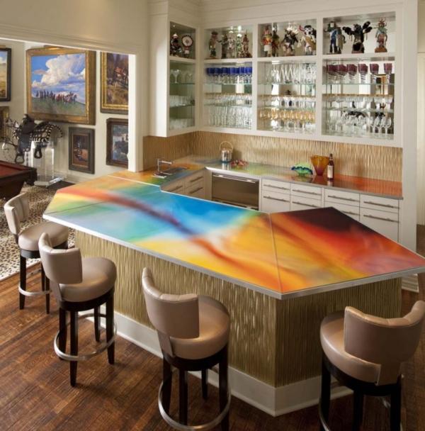 bar plan de travail cuisine américaine