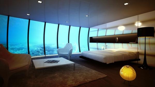 Le design dune chambre dhtel de luxe sousmarine