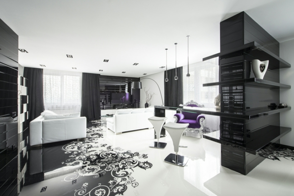 La Dcoration Noir Et Blanc Vous Surprenda Avec Style Et