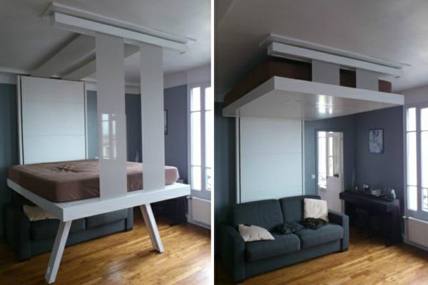 Un Lit Escamotable Plafond Pratique Et Innovant