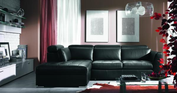 leather sofas for small living rooms sofa dimensions in cm le canapé de cuir vintage donne un style solide à votre ...