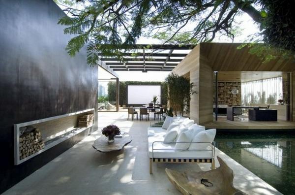 Un Salon De Jardin Contemporain 50 Ides Fascinantes