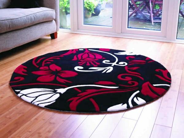 Un tapis rond shaggy  la touche de douceur et du confort dans linterieur  Archzinefr