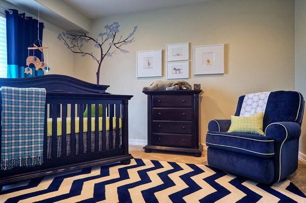 dcoration chambre bleu et beige