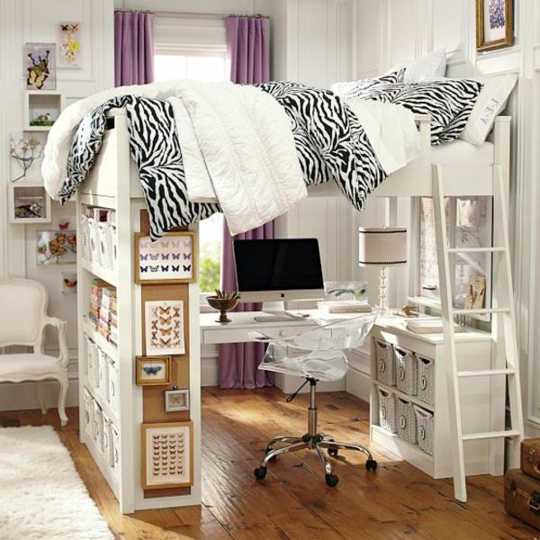 Le lit mezzanine avec bureau est lameublement cratif