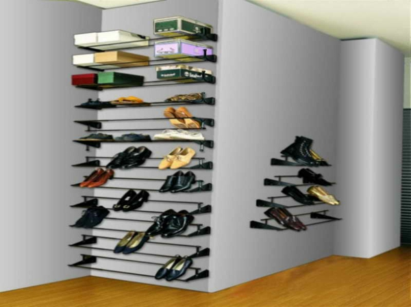 le range chaussures mural designs