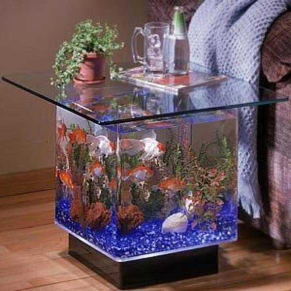 l aquarium meuble dans la deco
