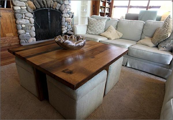 La table basse avec pouf pour un style de vie moderne  Archzinefr