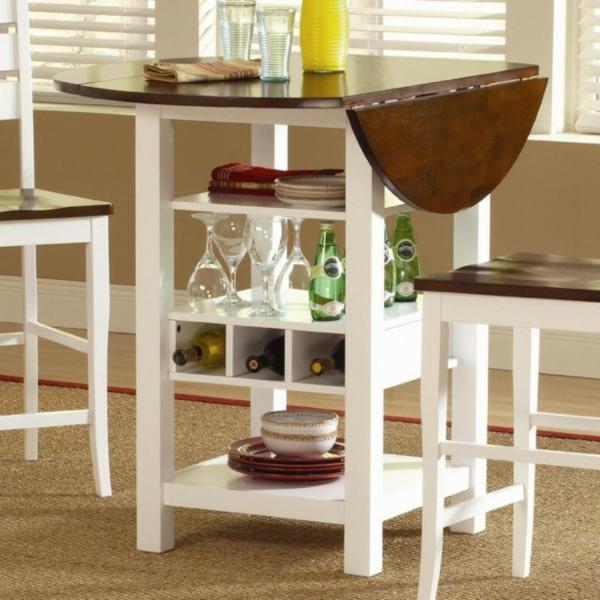 table haute cuisine avec rangement