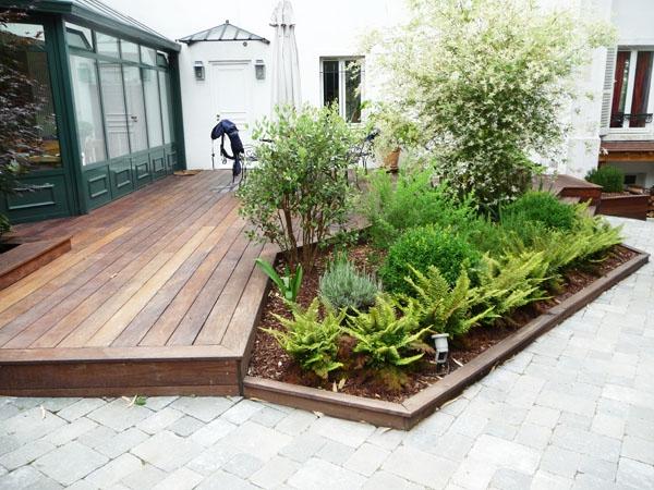 L amnagement de terrasse avec un sol du bois  Archzinefr