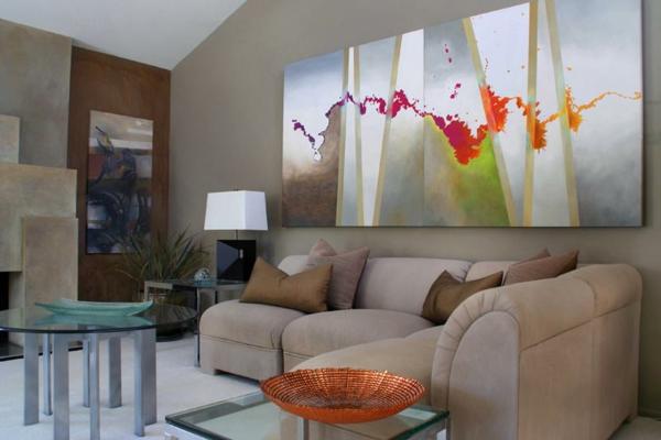 sofa table design plans high quality corner bed la peinture abstraite dans l'intérieur contemporain ...