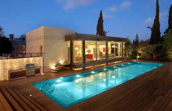 La piscine en bois rectangulaire  espace de dtente et dco pour lextrieur  Archzinefr