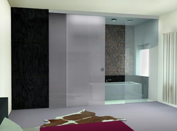 porte coulissante pour la salle de bain