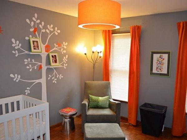 Chambre Bebe Orange Et Gris