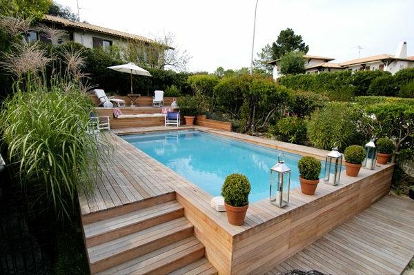Votre piscine semienterre  30 ides cratives