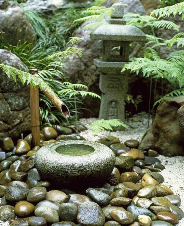 Dcoration de jardin avec une fontaine pour bassin