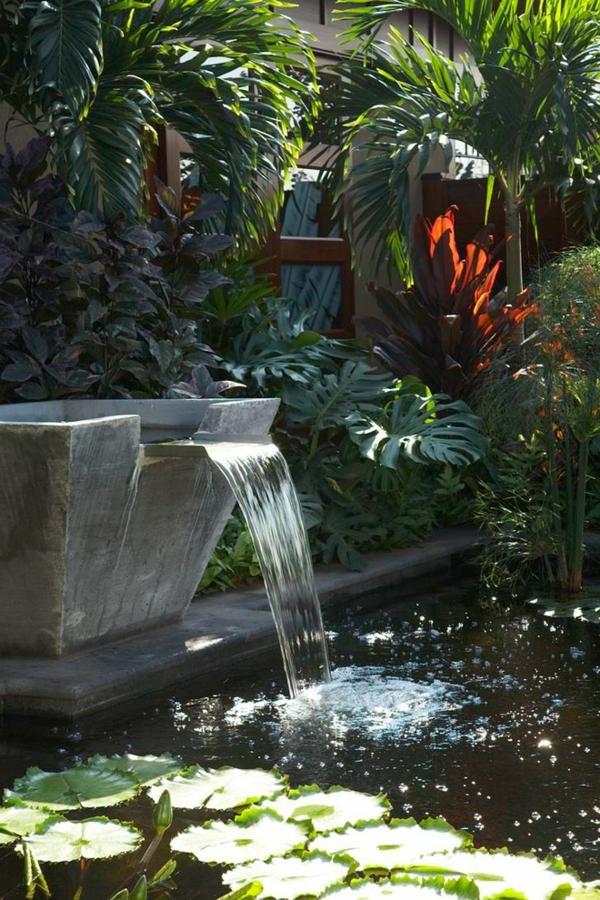 Dcoration de jardin avec une fontaine pour bassin  Archzinefr