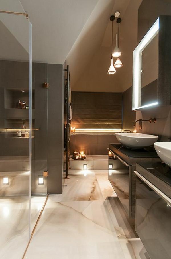 Une salle de bains grise  lgance et chic contemporain