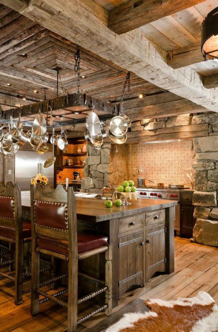 table cuisine bois massif