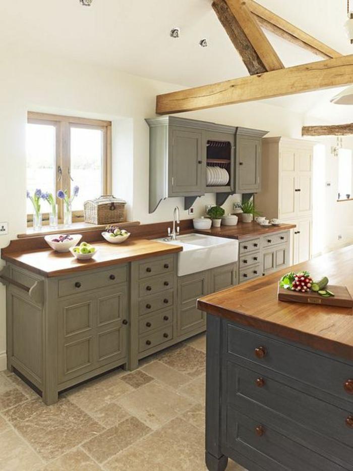 repeindre meuble de cuisine en bois